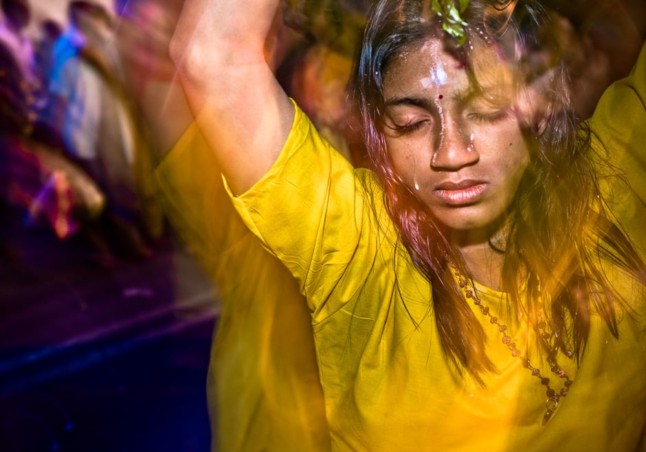 Once in a trance or some say possessed by the Hindu god Murugan, many devotees find the strength to walk the pilgrimage of Thaipusam with their kavadi (burden).