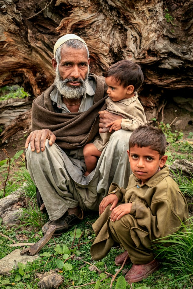 A Gujjar family portrait lost till today.