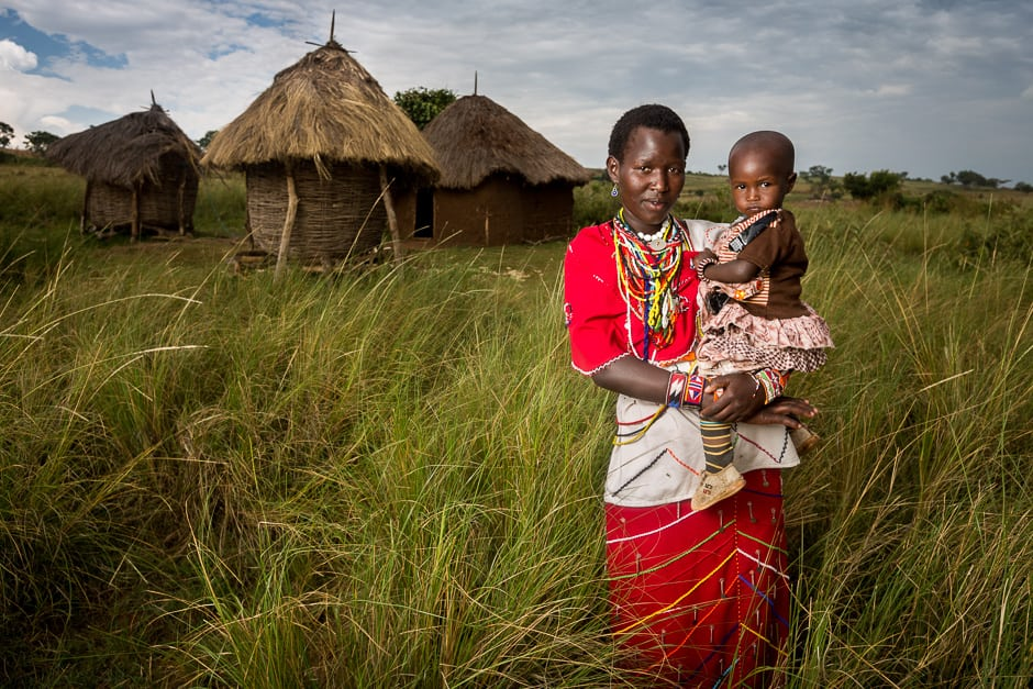 A Maasai Mother and Child.